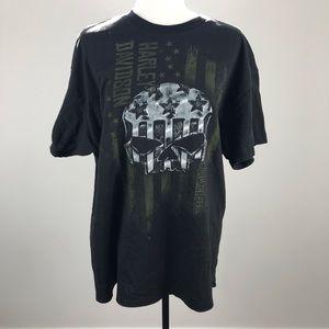 Harley -Davidson Black Skull T -Shirt XL